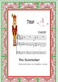 Boomwhackers  and piano score.Color codec.Nutcracker Suite