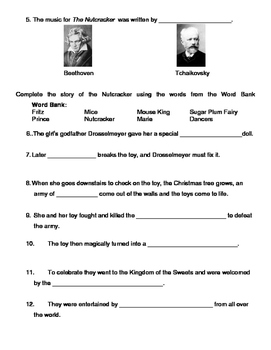 Nutcracker Test (with ADAPTED version for SpEd/IEP students)