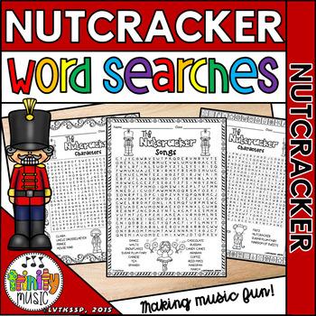 Nutcracker Word Search Puzzles