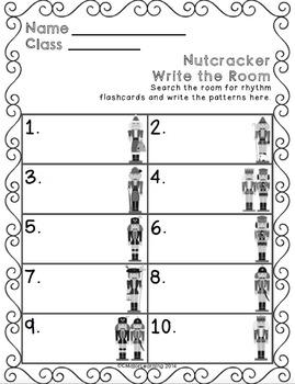 Nutcracker Write the Room Music Edition Z (quarter rest) Set