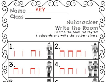 Nutcracker Write the Room Music Edition ta ti-ti Set