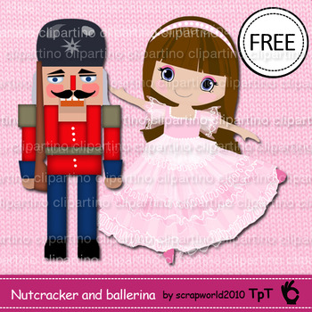 Nutcracker and ballerina clipart FREE