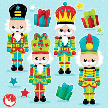 Nutcracker clipart commercial use, vector graphics, digital  - CL1041