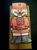 Christmas Nutcracker paper bag puppet pattern