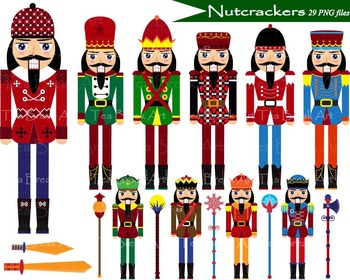 Nutcrackers Clipart - Digital Clip Art- Personal /Commercial Use