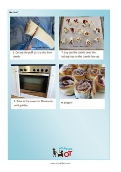 Nutella Raspberry Scrolls Recipe with Visual Photo Sequence