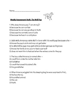 Nutik the Wolf Pup Quiz