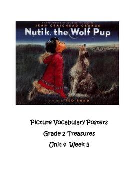 Nutik, the Wolf Pup Vocabulary Posters Grade 2 Treasures