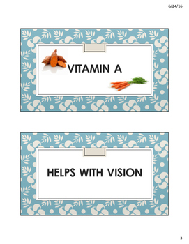 Nutrient Cards