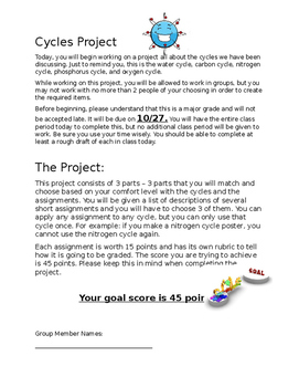 Nutrient Cycles Project - Part 1