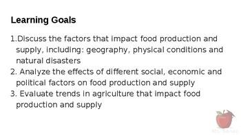HFA4U - Food Production and Supply Part 2