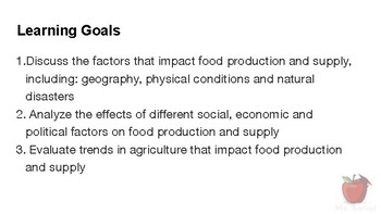 Nutrients and Health - Food Production and Supply Part 2 (part a)