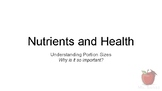 Nutrients and Health - Portion Sizes