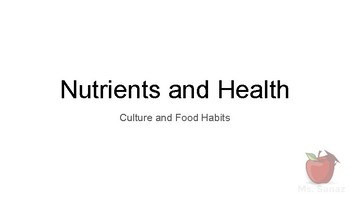 Nutrients and Health - an Introduction to the ABC of Nutrition