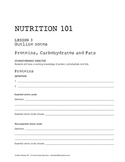 Nutrition 101 for Middle and High School Students