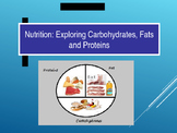 Nutrition: Carbohydrates, Fats, Proteins For LabLearner Investigations 3-5