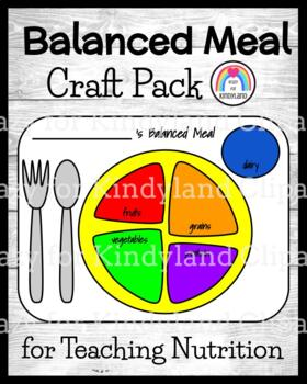 Nutrition: A Balanced Plate: Color, Cut, and Glue Craft