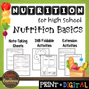 Nutrition Basics - Interactive Note-Taking Materials