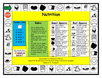 Nutrition Board Game