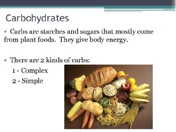 Nutrition - Carbohydrates (POWERPOINT)