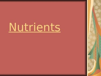 Nutrition Categories