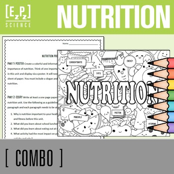 Nutrition Seek & Find and Nutrition Project Combo