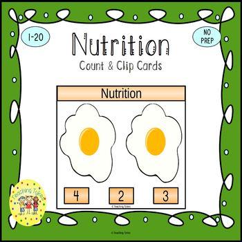 Nutrition Task Cards