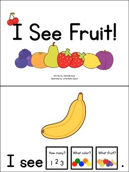Nutrition Count and Color Books: Fruits & Vegetables