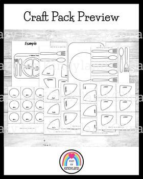 Nutrition Craft Pack: A Balanced Plate, Fruit, Vegetables