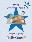Nutrition: Dairy Crossword Puzzle