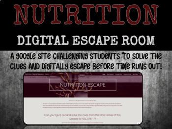 Nutrition Digital Escape Room