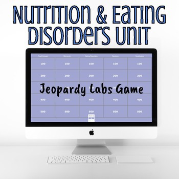 Nutrition & Eating Disorders - Jeopardy Game