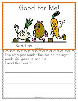Nutrition Emergent Reader