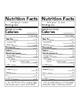 Nutrition Fact Labels 2018