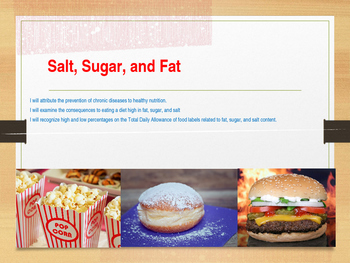 Nutrition: Fat, Sugar, and Salt Lesson