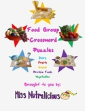 Nutrition: Food Group Crossword Puzzles (Set of 5)