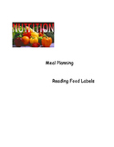 Nutrition - Food Label and Meal Planning