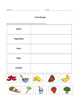 Nutrition- Food Sort