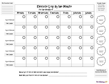 nutrition food and exercise logs by miss nutralicious tpt