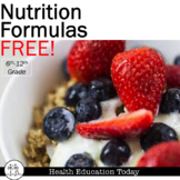 Health Lesson FREE: Nutrition Formulas-How much of each should YOU have?