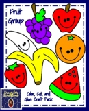Nutrition: Fruit Group: Color, Cut, and Glue Craft Pack