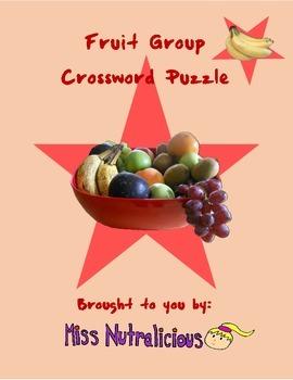 Nutrition: Fruit Group Crossword Puzzle