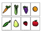 Nutrition Fruit and Veggie Memory Matching activity for pr