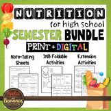 Nutrition  Bundle - Interactive Note-Taking Materials