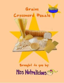 Nutrition: Grains Crossword Puzzle