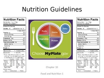 Nutrition Guidelines (MyPlate) Powerpoint