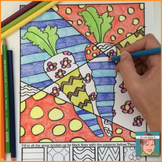 Healthy Eating (vegetables) Coloring Sheets (apples, carrots, broccoli & more!)