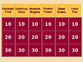 Nutrition Jeopardy Game