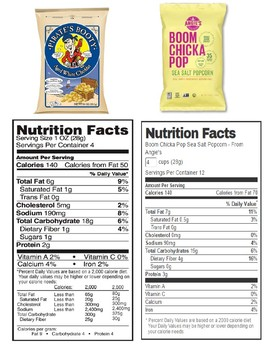 Life Skills Reading Nutrition Labels 2