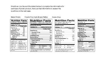 Nutrition Label Comparison